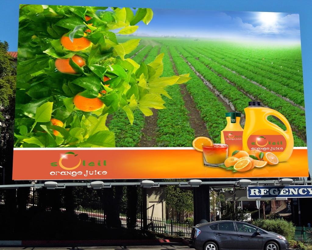 Soleil Orange Juice Billboard